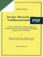 Köpke, Matthias - Ist der Mensch eine Fehlkonstruktion, 1. Auflage 2020