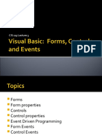 CIS 115 Lecture03 VB-Forms Controls and Events