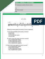 Material para aula de violão