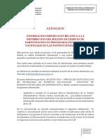 DISTRIBUCION BOLETIN EXPERTOS NACIONALES(1)