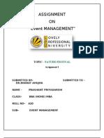 Assignment 1 Event Managment Prashant Priyadarshi a 20