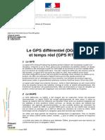 Le GPS différentiel (DGPS) et temps réel (GPS RTK)