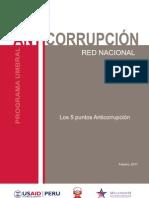 Los 5 puntos Anticorrupción