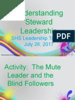 steward leadership shs