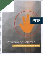 Plan de Gobierno Comunidad de Todos