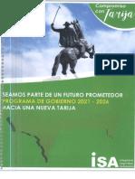 Programa de Gobierno ISA