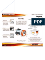 SOLREC Energizer Solar AC DC LED Spotlight