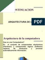 Arquitectura de las PC continuación