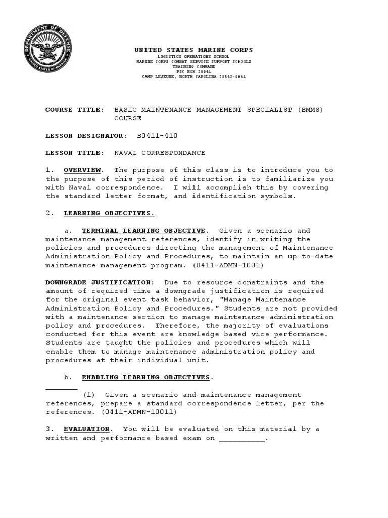 B0411 410 so naval correspondence paragraph united states marine b0411 410 so naval correspondence paragraph united states marine corps thecheapjerseys Choice Image