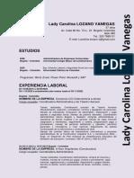 HOJA DE VIDA LADY CAROLINA LOZANO VANEGAS V2