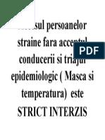Accesul persoanelor straine fara acceptul conducerii si triajul epidemiologic.docx