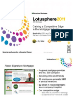 2011 Lotusphere Presentation Signature Mortgage