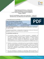Guia de actividades y Rúbrica de evaluación - Tarea 1 - Introducción a los SIG