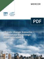 Climate Change Scenarios – Implications for Strategic Asset Allocation