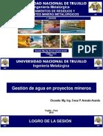 1° CLASE - GESTION DE AGUA EN PROY. MINEROS