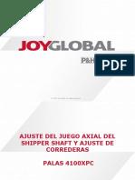 Ajuste Shipper Shaft y Correderas V2