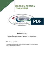Módulo 11- Ratios financieros para la toma de decisiones