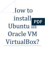 How to Install Ubuntu in Oracle VM VirtualBox