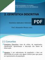 Estatística aplicada - Unidade 2 e 3