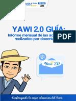 GUIA YAWI -  INFORME DE ACTIVIDADES DE DOCENTES
