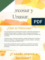mercosur y unasur Grupo 8