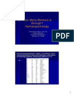 How Many Markers is Enough in Bone Marrow & Lymph Node Pathology