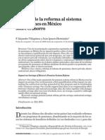 Impacto de la reforma al sistema de pensiones en México sobre el ahorro