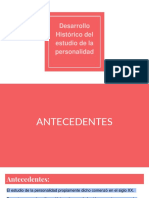 Desarrollo Histórico Personalidad