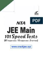 NTA JEE MAIN 101 Speed Tests