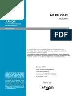 EN 13 242 Granulats pour GNt et GTLH