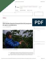 La Jornada - PRI Sinaloa lamenta desaparición del programa de apoyo a productores