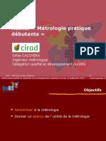 Metrologie Pratique Debutants CALCHERA