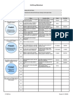 Drill Deep Root Cause Analysis Worksheet