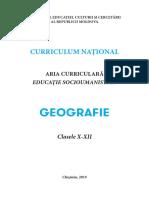 Curriculum Geografie Liceu 7