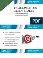 CLASE 4 - CLASIFICACION DE LOS DERECHOS REALES