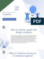 Follow These Tips to Choose a Web Development Company