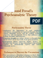 Sigmund Freud's Psychoanalytic Theory