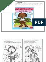 ATIVIDADE LITERARIA A LINDA GAROTA DE ANGOLA 1º ANO
