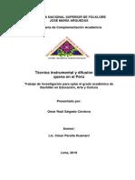 TECNICA INSTRUMENTAL Y DIFUSION DE LA QUENA EN EL PERÚ - Trabajo de investigacion OMAR SALGADO EN