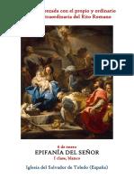 6 de Enero. Epifanía del Señor. Propio y Ordinario de la santa misa