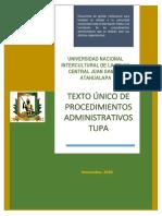 TEXTO ÚNICO DE PROCEDIMIENTO ADMINISTRATIVO (consolidado)