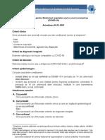 Definitii de Caz Si Recomandari de Prioritizare a Testarii Pentru COVID-19_Actualizare 04.01.2021