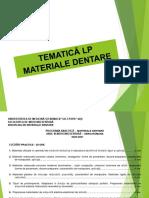 TEMATICA LP MATERIALE DENTARE 2020-2021
