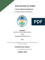 La Evaluación de Desempeño Financiero y Presupuestal en El Sector Público
