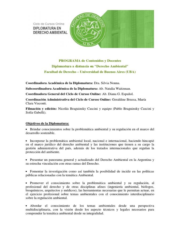 2019 Programa Derecho Ambiental Ley Del Medio Ambiente Energia Renovable