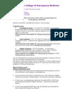 CEM5097 Career Progression in EM Explanation