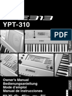Manual Yamaha PSR E313