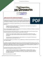 Tres Ensayos Sobre los Dinosaurios
