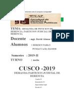 DEMANDA PARTICION JUDICIAL DE HERENCIA