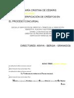 De Cesaris Verificación de creditos libro completo